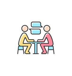 Interpersonal communication rgb color icon vector