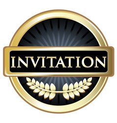 Invitation Label vector image