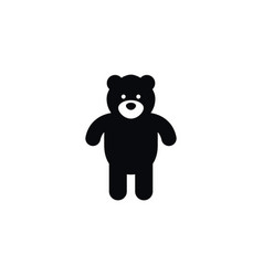 Isolated bear icon plush element can be vector