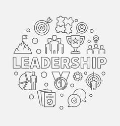 Leadership circular in outline vector