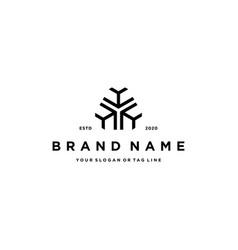 Letter hhh logo design vector
