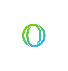 letter o logo icon design vector image
