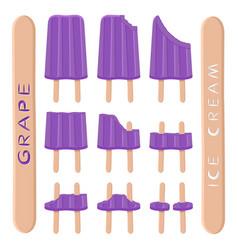 Logo for natural grape ice cream vector