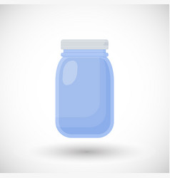 Mason jar flat icon vector