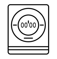 modern digital timer icon outline style vector image