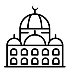 Mosque icon outline style vector