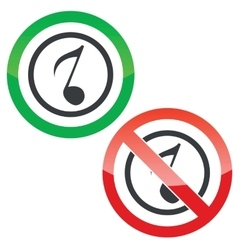 Music permission signs 3 vector