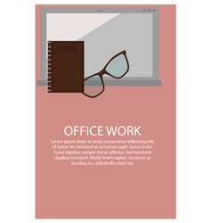 office work poster and text vector image