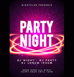 party night dance music poster template vector image