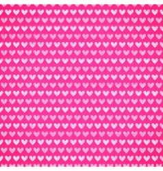 Pink fabric texture with heart seamless pattern vector