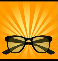 pop art object for sight sunglasses glasses vector image