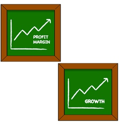 Profit and growth vector image