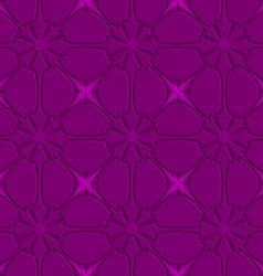 Purple flourish embossed tile ornament vector