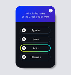 question and answers neon style for app mobile vector image