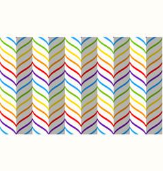 rainbow chevron pattern seamless geometric vector image