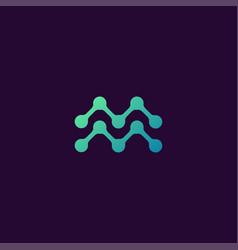 Reative letter m logo concept design templates vector