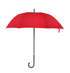 red classic rain umbrella photo realistic elegant vector image
