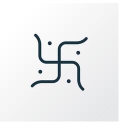 religion icon line symbol premium quality vector image