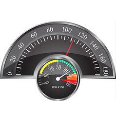 Retro Speedometer vector image