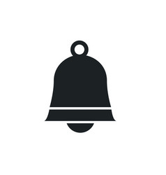 ringing sign bell icon on white background vector image