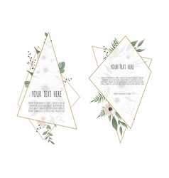 set floral design card greeting postcard vector image
