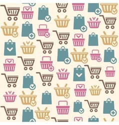 Set of shopping cart icons pattern vector image vector image