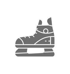 Skates sport equipment gray icon isolated on vector