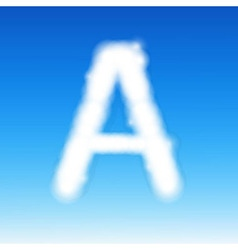 Sky Letter A vector image