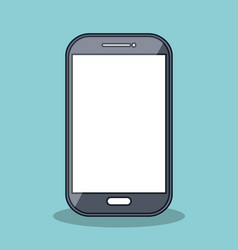 Smartphone icon digital technology isolated vector