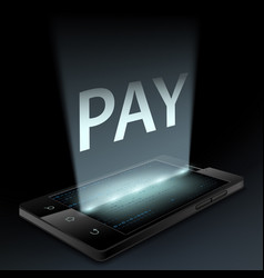 smartphone with the word pay on the screen vector image