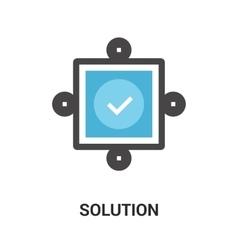 Solution icon concept vector