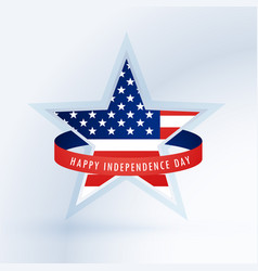 star with american flag 4th july design vector image