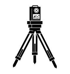 Surveyor instrument icon simple style vector