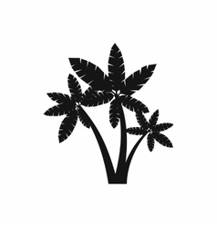 Three palm trees icon simple style vector