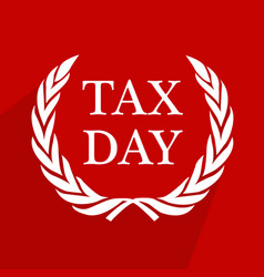 usa tax day background vector image