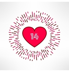 Valentines heart on tribal outburst vector