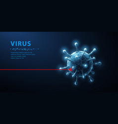 virus abstract 3d viral microbe isolated vector image