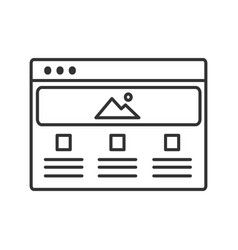 web page template linear icon vector image