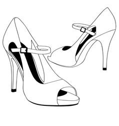 Wedding shoes high heels eps vector