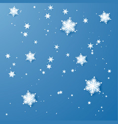 white paper snowflakes christmas and new year vector image