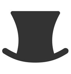 Gentleman hat flat icon vector