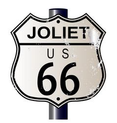 Joliet route 66 sign vector