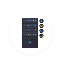 server icon in flat style vector image