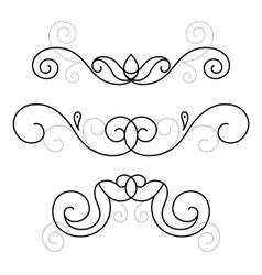 set of decorative ornament vector image vector image