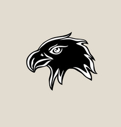 eagle fave silhouette logo vector image vector image