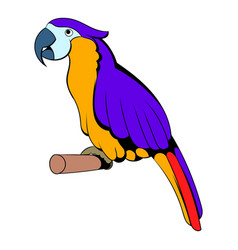 parrot icon cartoon vector image