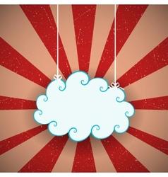 Retro cloud vector