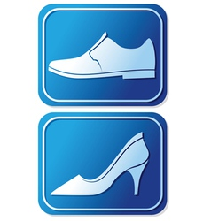 toilet sign with shoe vector image