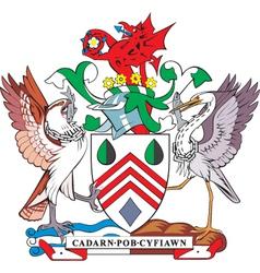 Westglamorgan county coa vector image vector image
