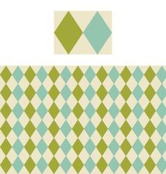 Diamond Geometric Pattern Swatch vector image vector image